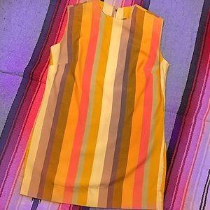 Vibrant Pastel 60's/70's A-Line Micro Mini Dress